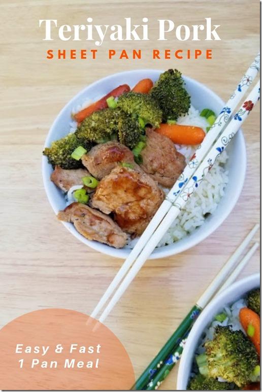 Teriyaki Pork Sheet Pan Recipe healthy fast (1)