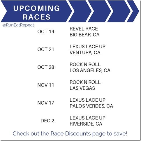 Upcoming Races and discount codes Las Vegas LA Rock N Roll Lace Up Revel marathon 5k 10k (1)