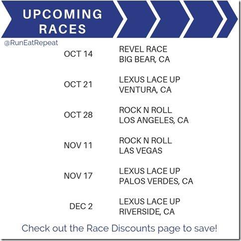 Upcoming Races and discount codes Las Vegas LA Rock N Roll Lace Up Revel marathon 5k 10k (1)
