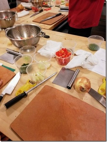 sur la table knife skills cooking class south coast