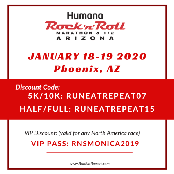 RNR Phoenix AZ Marathon Half 5k 10k discount code