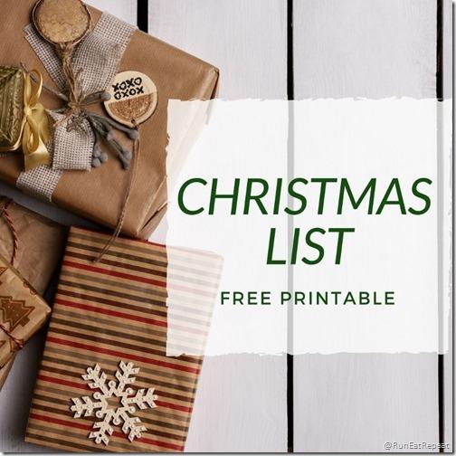 Want Need Christmas List Printable (800x800)