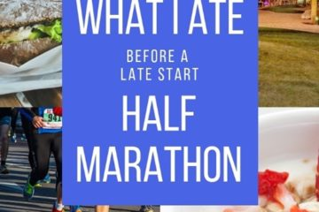 What to Eat Before a Late Half Marathon Race