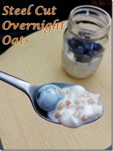 steel cut overnight oats recipe