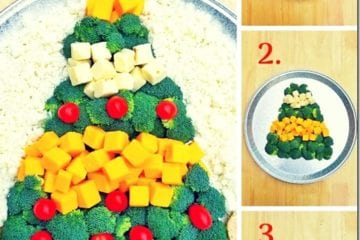 Christmas Tree Cheese Platter–Easy Appetizer and Centerpiece with Real California Dairy