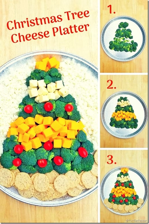 Christmas Cheese Platter.Christmas Tree Cheese Platter Easy Appetizer And Centerpiece