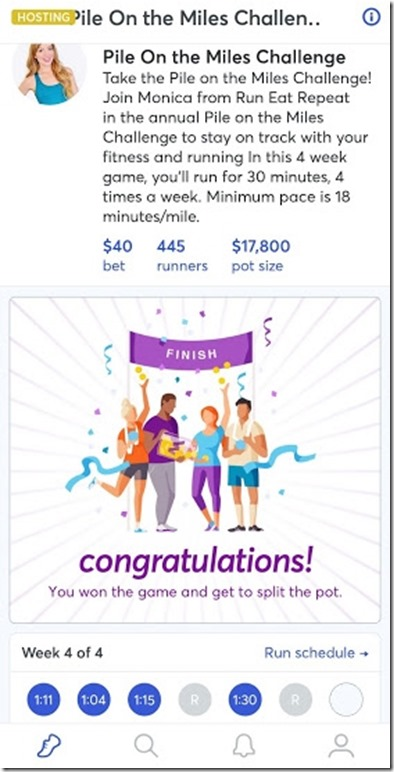 run bet challenge done