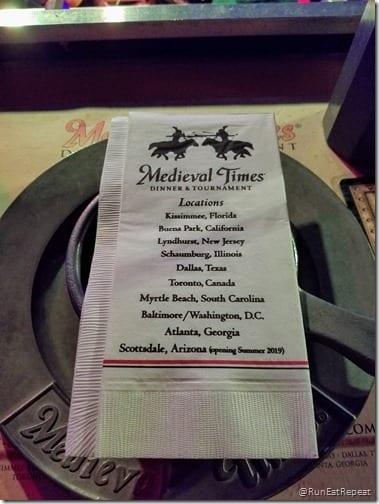 Medieval Times dinner show California theme park restuarant locations