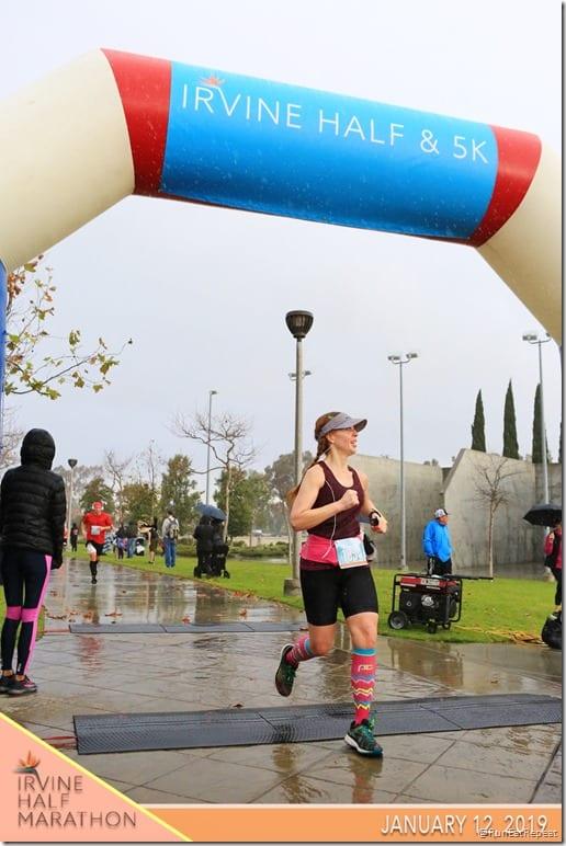 Irvine Half Marathon race finish line
