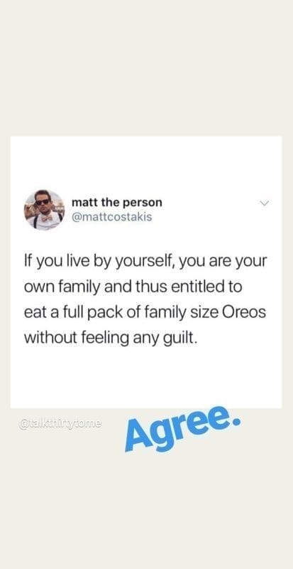 eating family pack of oreos