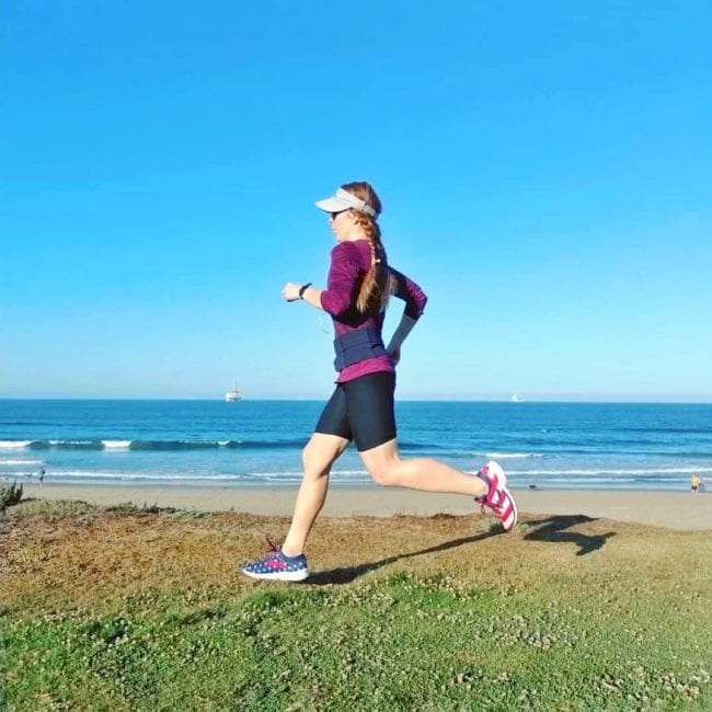 running in Seal Beach California