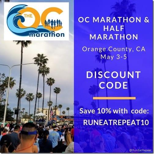 OC marathon half marathon discount code