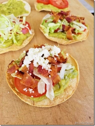 BLT mini Tostadas Recipe