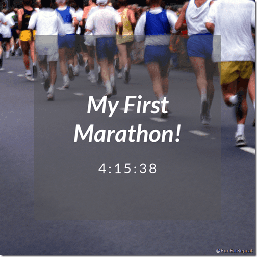 my first marathon time Surf City Marathon