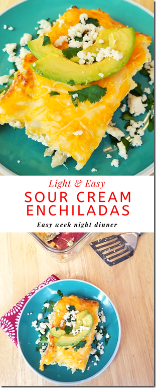 Light Sour Cream Enchiladas Recipe