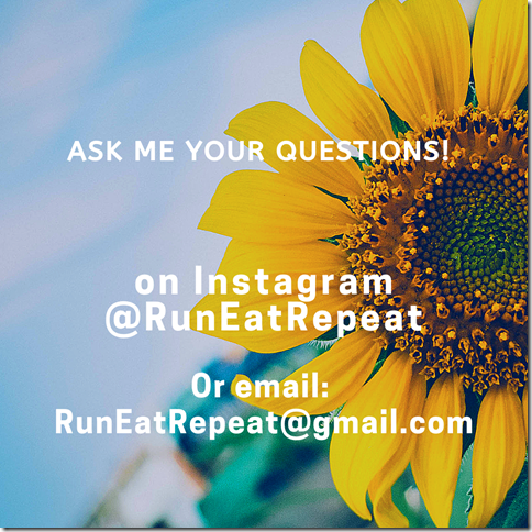 Run Eat Repeat questions March blog instagram