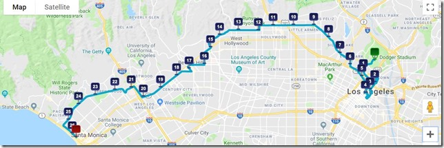 la marathon course map highlights