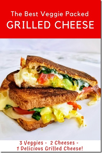 3 2 1 Grilled Cheese w veggies recipe
