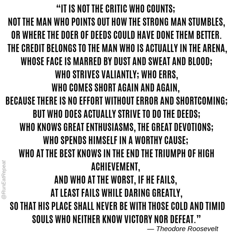 The Call to Courage and Daring Greatly and Running