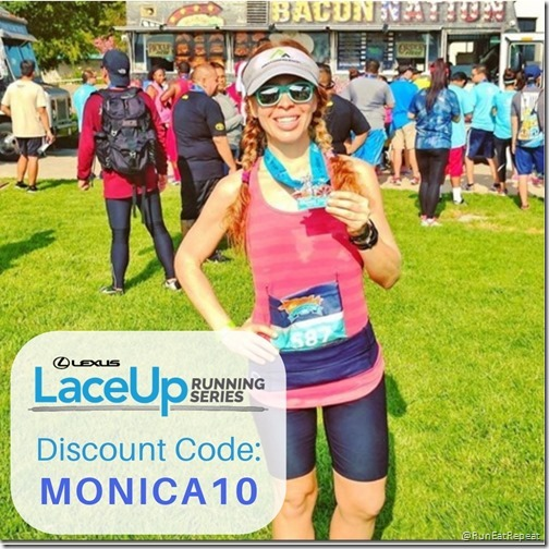 Lace Up Running half marathon 10k 5k discount code MONICA10