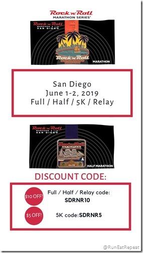 RnR San Diego Marathon Half Discount Code 2019