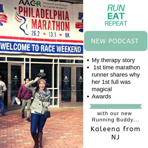healthy living podcast full marathon interview new runner