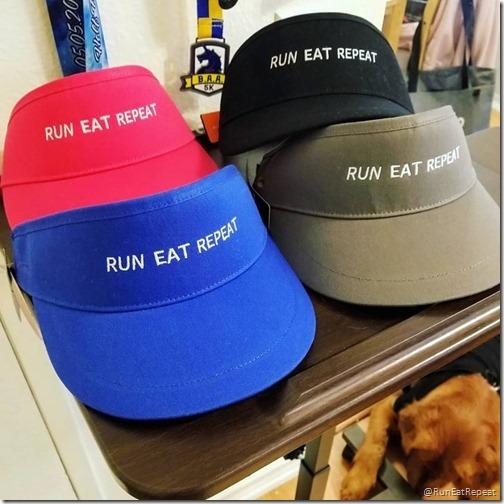 run eat repeat visors instagram