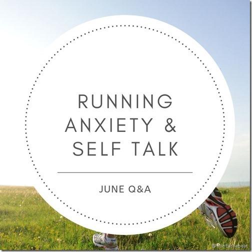 correndo l'ansia e il modo di parlare di sé