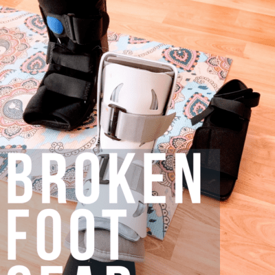 I Actually Broke My Foot & Walking Boot Recs