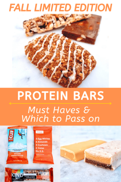 Best Fall Protein Bars Review Pumpkin Spice