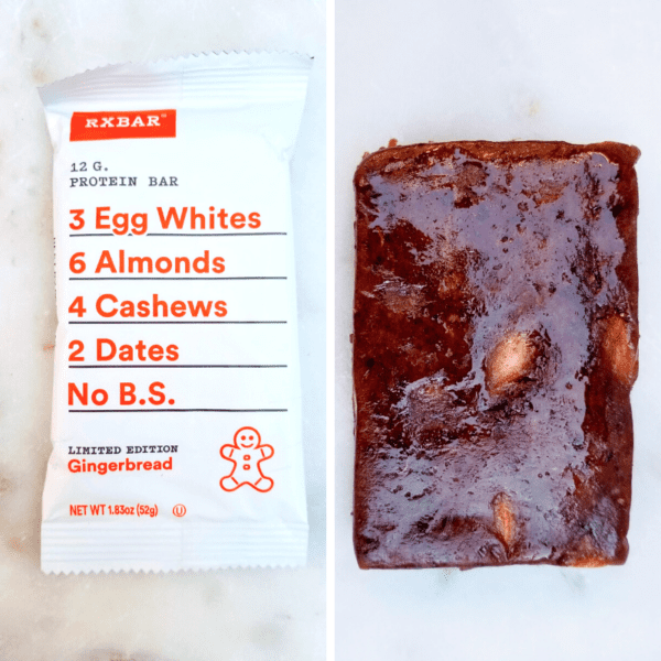 RX Protein bar Gingerbread review