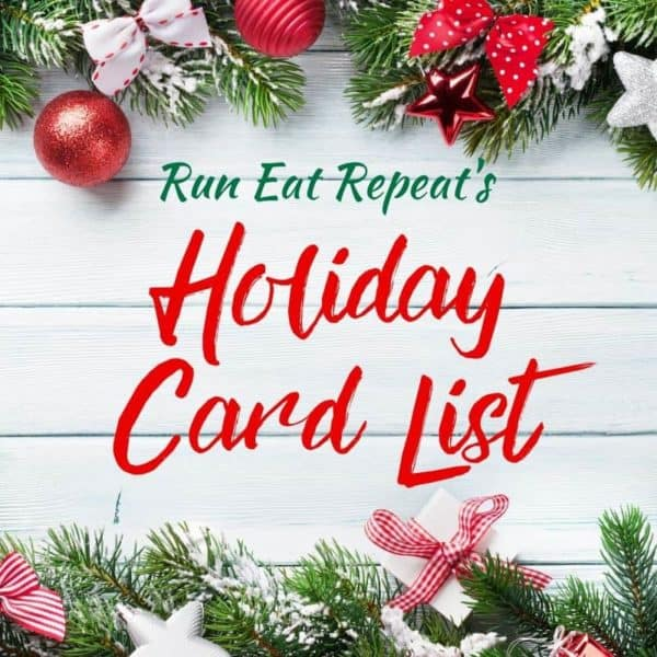 Holiday Card List Run Eat Repeat