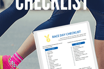 Race Day Morning Prep and Checklist Printable free pdf
