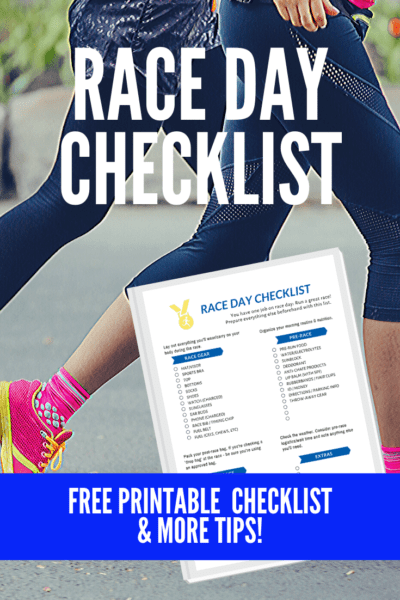 Race Day Checklist free printable pdf