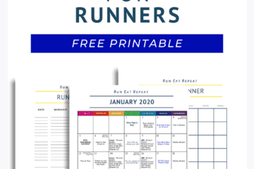 January Calendar, Running Log and Planner - free printable