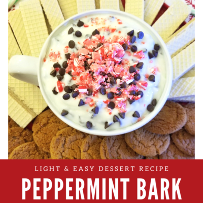 Easy Peppermint Bark Yogurt Dip Recipe