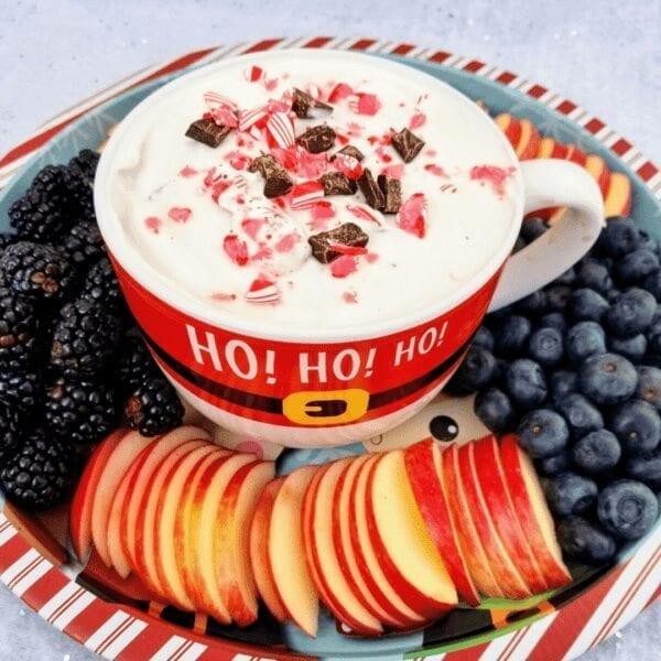 Peppermint Bark Yogurt Dip Recipe healthy dessert