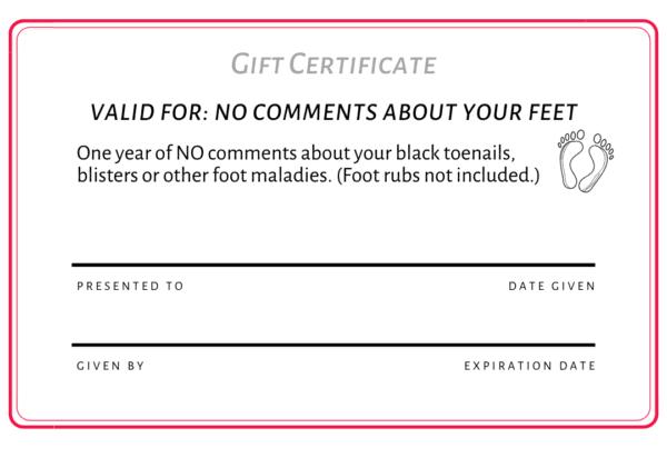 free printable pdf runner gift certificate 1
