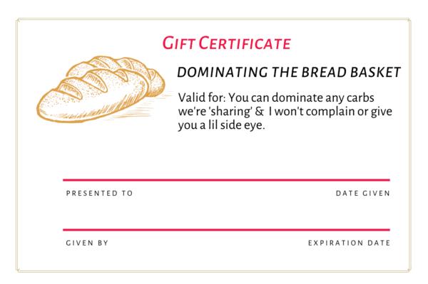 gift certificate free pdf runner