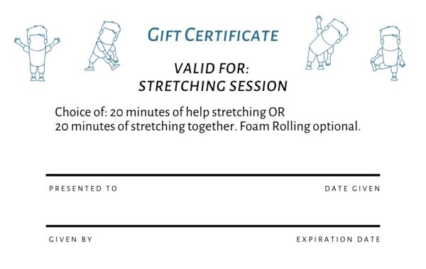 free printable pdf runner gift certificate