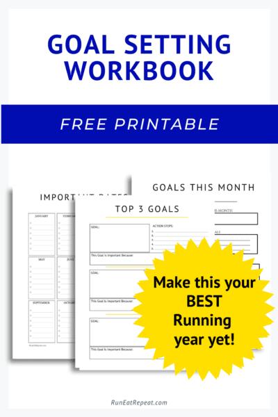Goal Setting Workbook for Runners - free printable pdf 2