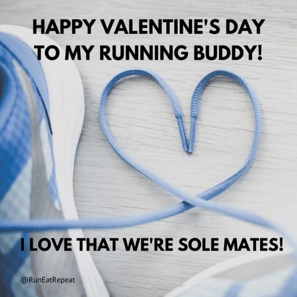 Happy Valentine's Day to my running buddy! Sole mates meme @RunEatRepeat