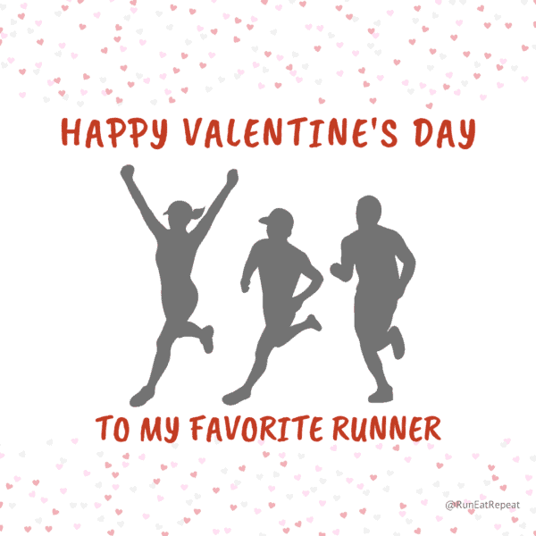 Happy Valentine's Day for runners meme @RunEatRepeat