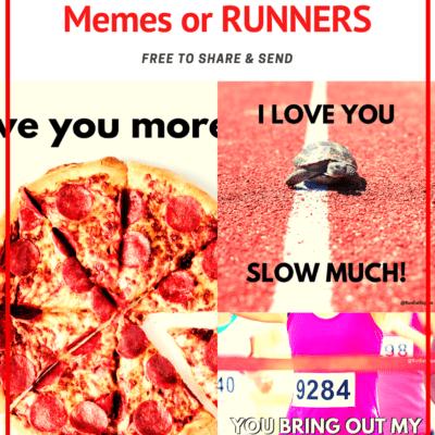 Valentine's Day for Runners – memes for Instagram & Facebook 2020