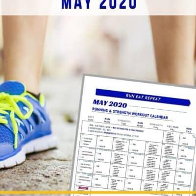 Running & Strength Workout Calendar – May 2020