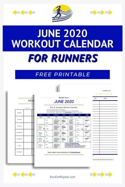 june calendar for runners