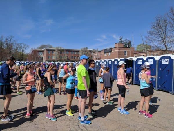 boston marathon start line porta potties