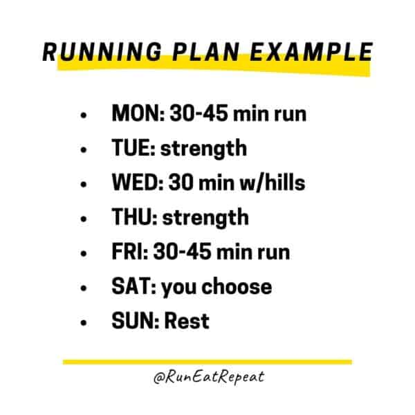 running workout plan example
