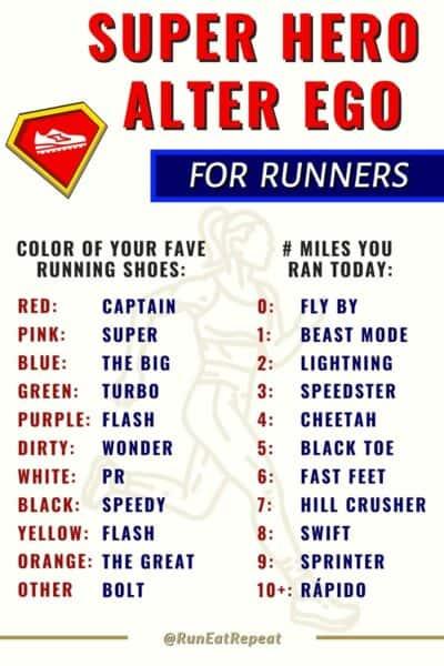 Running Super Hero Nickname