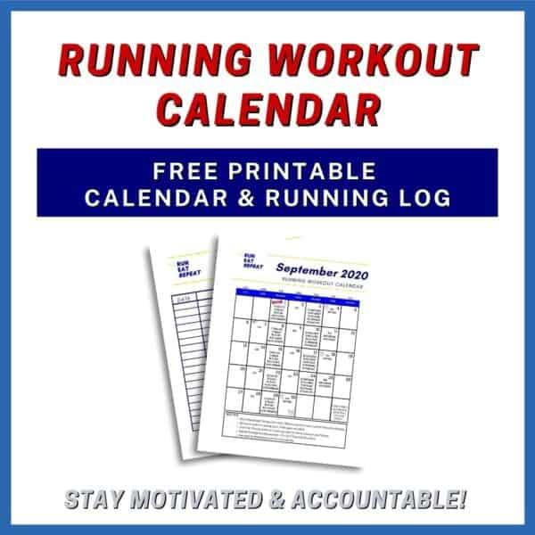 September Running Calendar